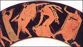 pentheus and dionysus Though, dionysus is a god through and through, it seems like euripides manages to in some ways tie him to the mortal world as well another interesting duality is that dionysus is foreign and greek at the same time.